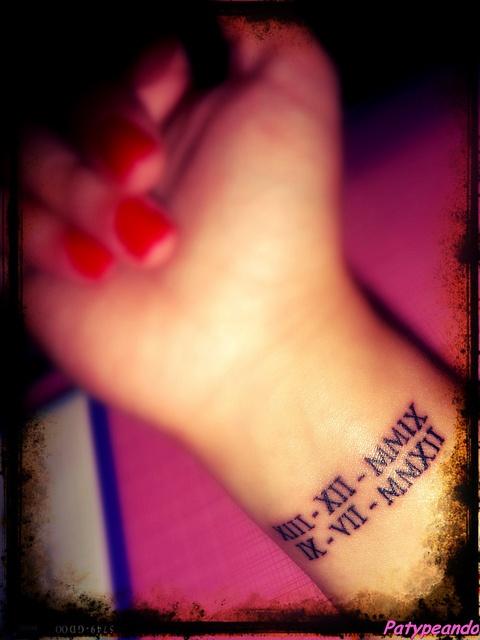Tatuaje Mu 241 Eca Fechas En Numeros Romanos Tatoos Pinterest