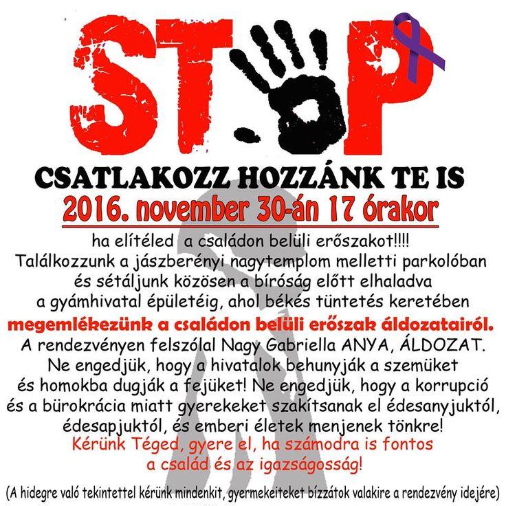 Jászberény  A családon belüli erőszak ellen tüntetnek