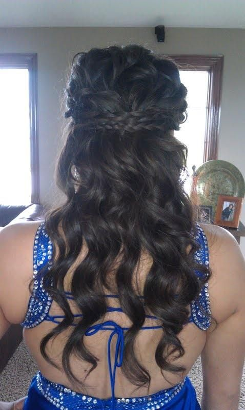 Bridesmaid hair, I would want either a thicker braid, or a doube braid and have pinned curls at the base of my neck.
