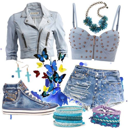 Denim Outfit Idea for Summer