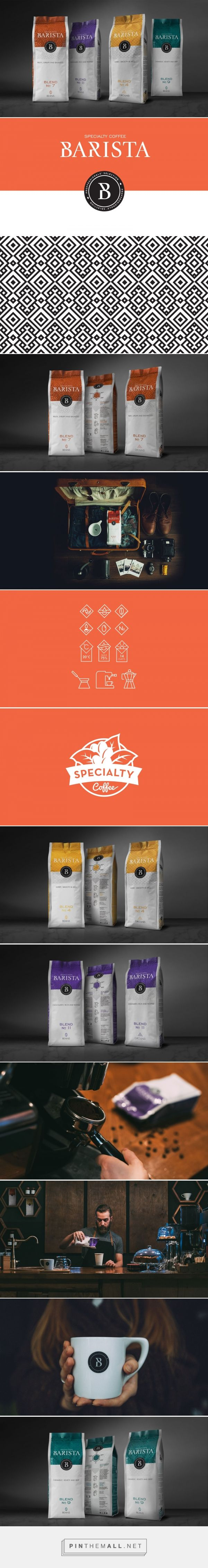 Barista Coffee packaging design by Skybox Design Agency (Russia) - http://www.packagingoftheworld.com/2016/08/barista-packaging-concept.html