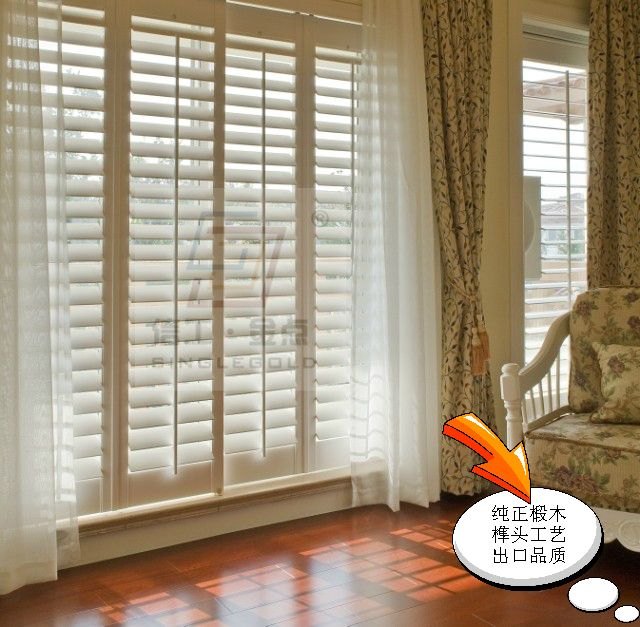 French Shop Windows Wood Window Blinds French Breathable Window Wooden Window Blinds