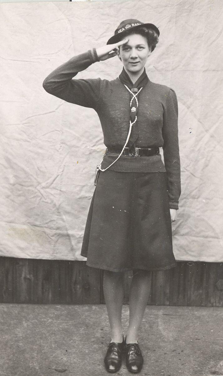 Uk Sea Ranger Uniform 1946 1967 Girl Guides Girl
