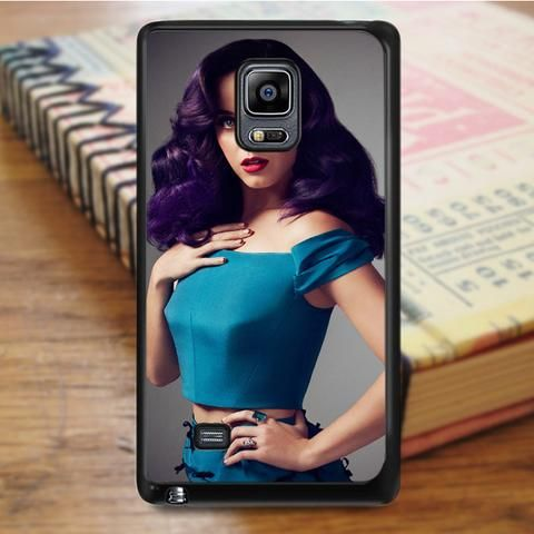 Katty Perry Purple Hair Samsung Galaxy Note 5 Case