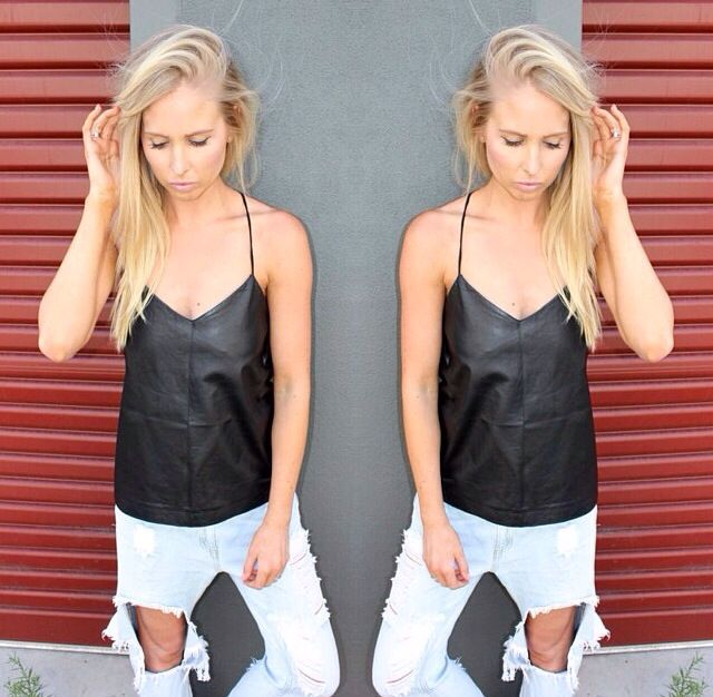 This Eska Alikai leather top is a must have from runway brooklyn