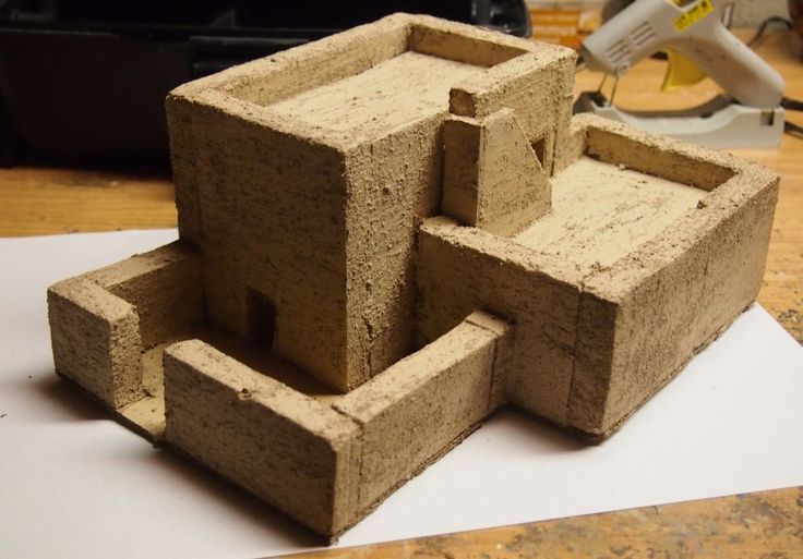 how to make an egyptian house out of cardboard