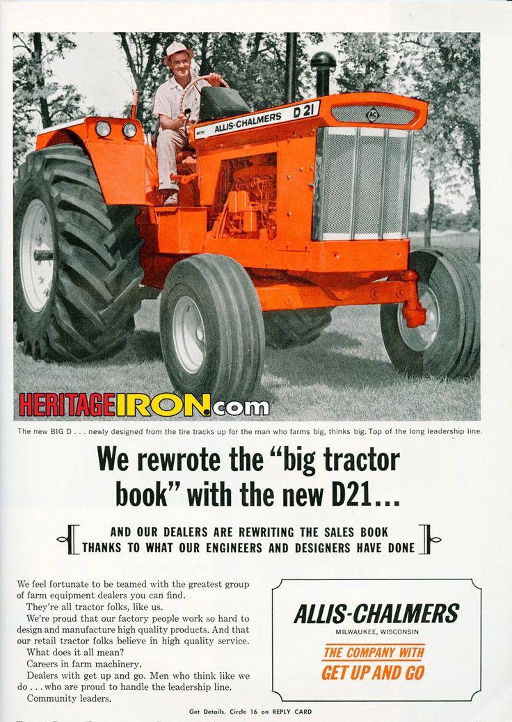 "Allis-Chalmers D21 - rewriting the ""big tractor book."" (Farm & Power Equipment - January 1964) #VintageAdWednesday"