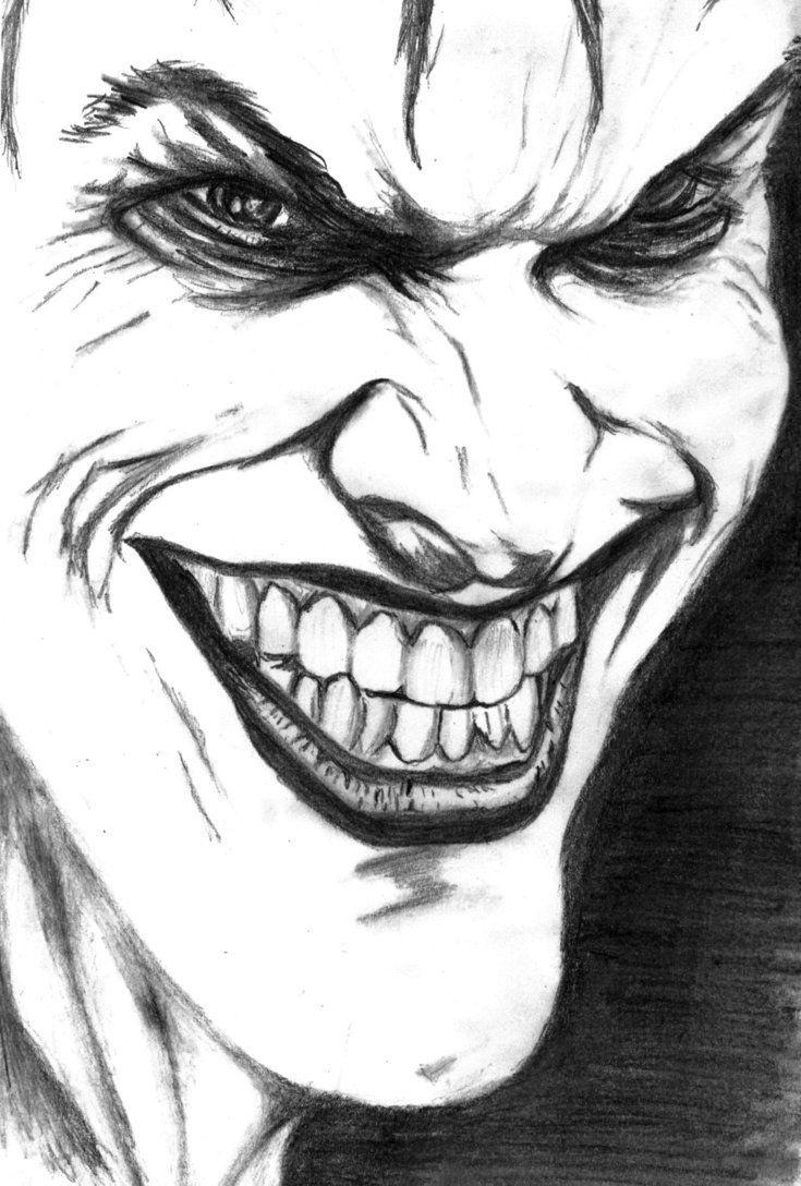 Джокер карандашом картинки