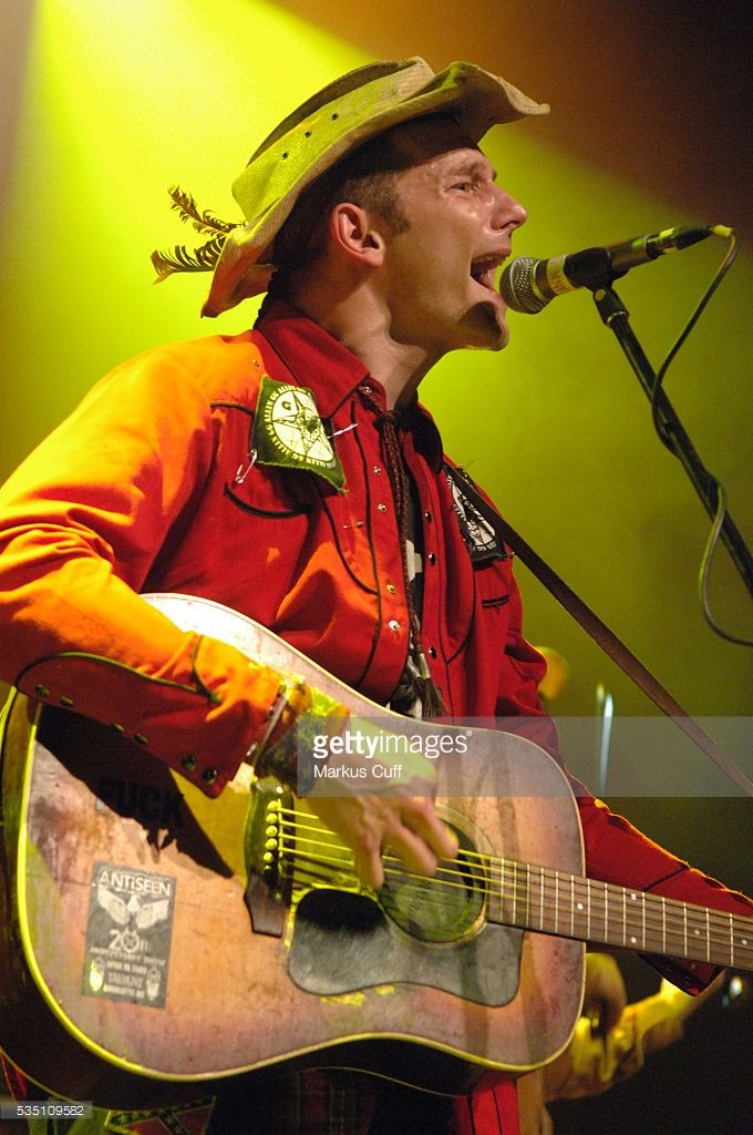 Hank Williams III, grandson of Hank Williams, Sr., performs at the Henry Fonda Theater in Hollywood, California.