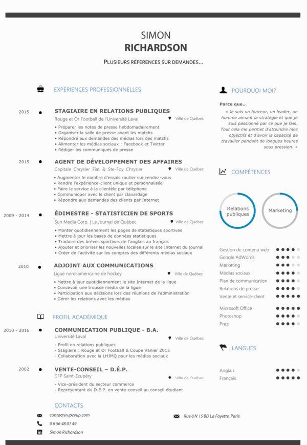 Cv Etudiant Communication Modele Cv Sur Mesure Moderne Upcvup Cv Etudiant Modele Cv Relations Publiques