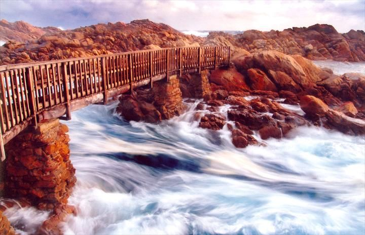 Thousands of years of the Indian Ocean surging and crashing against this section of granite coastline has chiselled out a narrow channel between the granite rocks. A narrow timber walkway allows for easy access and great views of the rushing ocean beneath. It is always...