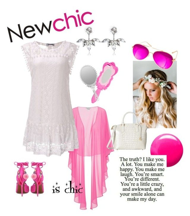 """""""new chic"""" by chain-elle-arts on Polyvore featuring Gina Bacconi, Moschino, Emily Rose Flower Crowns, AQS by Aquaswiss, Dolce&Gabbana, Topshop and Brahmin"""