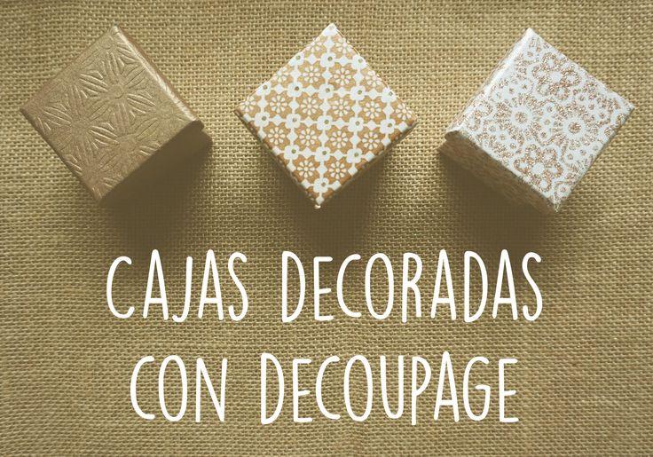 como decorar una caja de madera o de cartón con la técnica de decoupage
