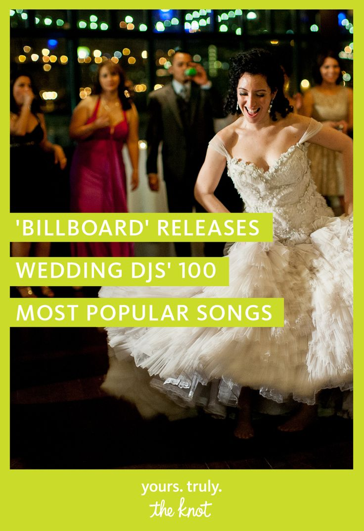 Having trouble making a wedding playlist to hand over to the DJ? We've got you covered with a 'Billboard' list of the top 100 most popular wedding songs!