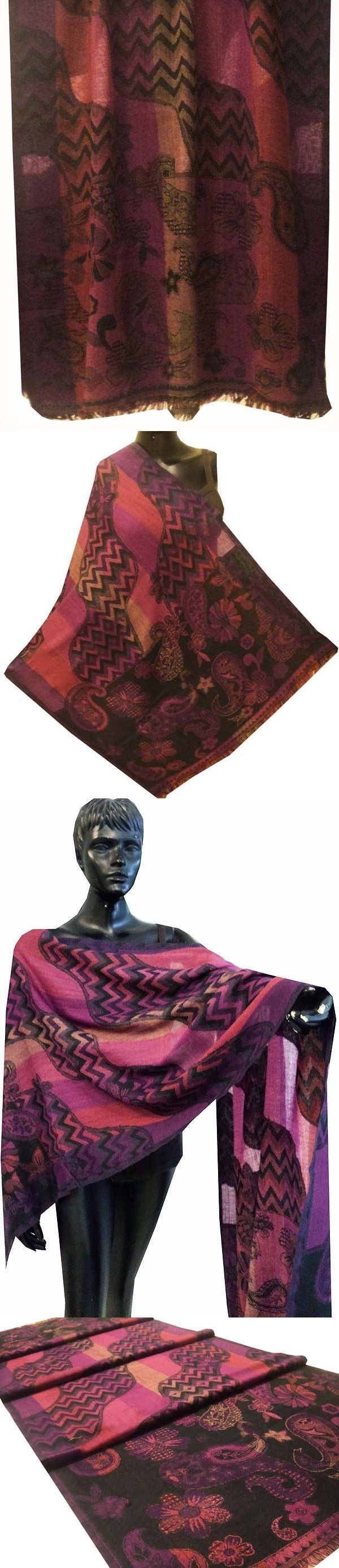 Scarves and Wraps 57927: Exquisite Wool Kashmir Jamawar Pashmina Cashmere Shawl Wrap Throw Scarf Indian -> BUY IT NOW ONLY: $30.99 on eBay!