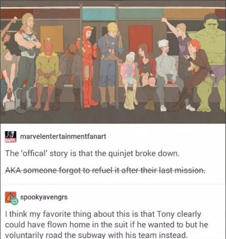 Same with Thor and Vision, I like the guy in the corner trying to see if he's worthy