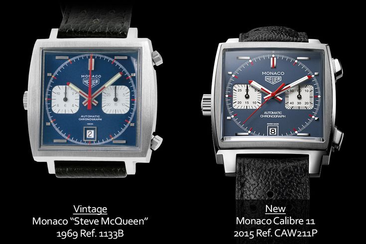 "A look at the 2015 TAG Heuer Monaco Calibre 11 ""Steve McQueen"" ref. CAW211P (live pics and price) 