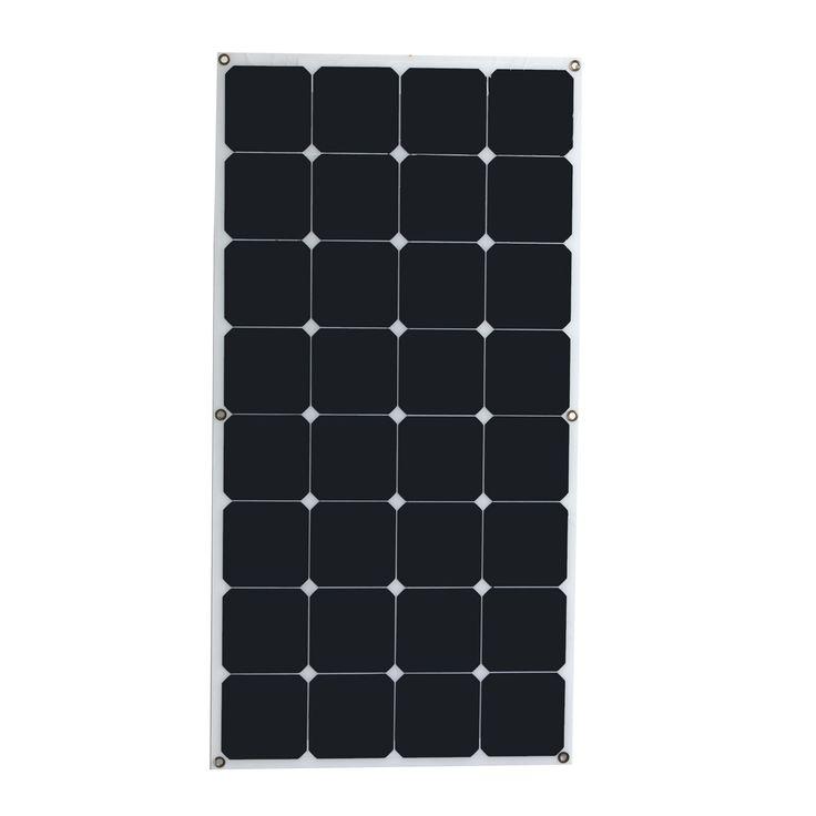 De alta velocidad y alta eficiencia de conversión de salida 18 V 100 W Monocristalino Panel Solar Semi flexible diy módulo solar para barco RV