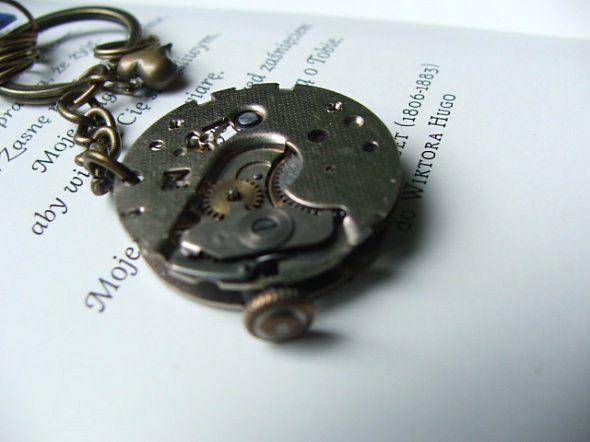 brelok na klucze steampunk zegar koronka - nailart2010 - Akcesoria męskie