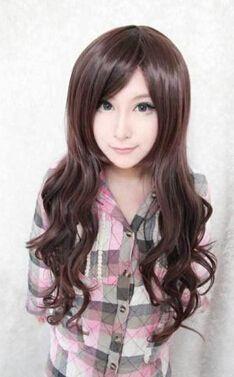 Кк 004097 мода длинные вьющиеся каштановые волосы косплей парики для женщин