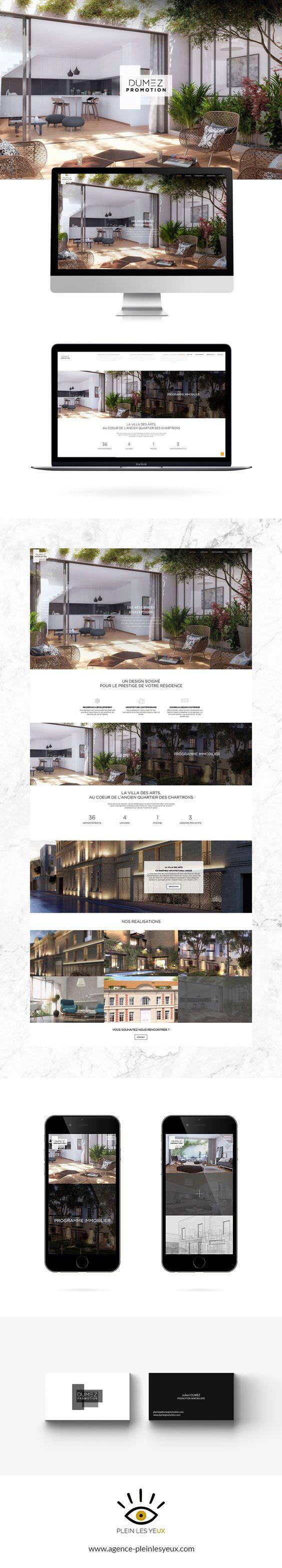 Dumez Promotion, le promoteur immobilier bordelais a fait appel à l'agence Plein les Yeux pour la direction artistique et la création de l'identité visuelle de son entreprise, de son site vitrine et de son contenu visuel.