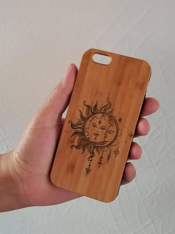 Bohemian Sun & Moon bamboo wood iPhone case iPhone 6 iPhone