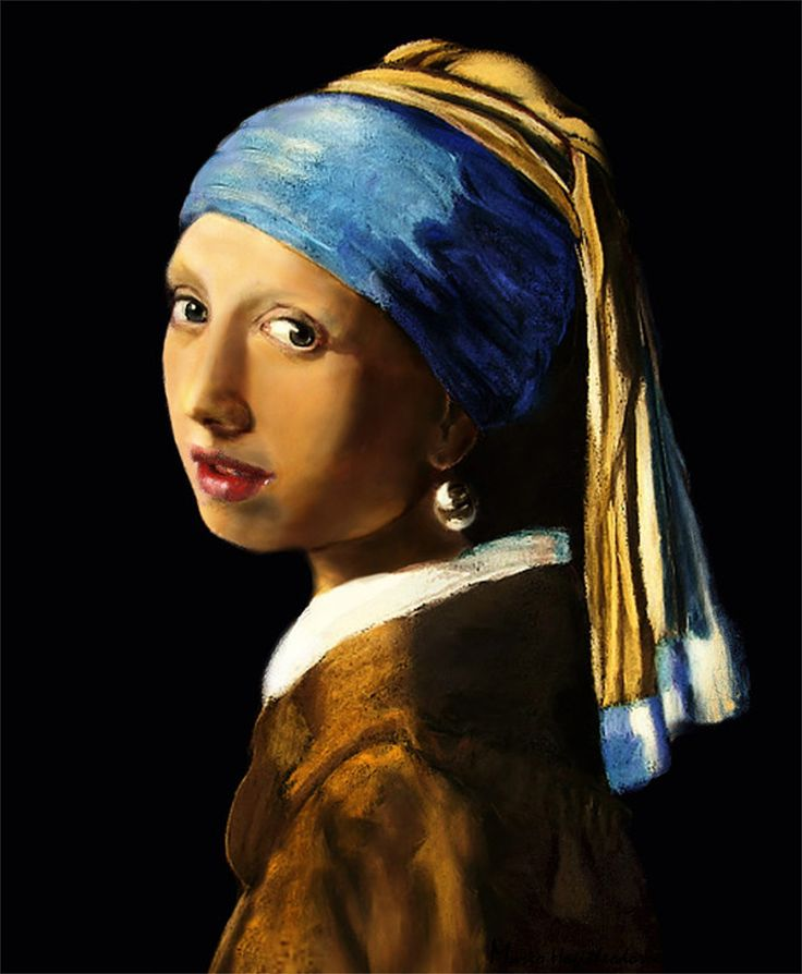 Girl with pearl earring after vermeer. Soft pastels latest stage.