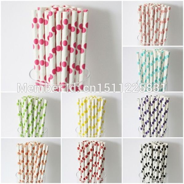 Ну вечеринку пользу насколько бумаги Straws-5000pcs одноразовые различного цвета горошек каменщик банку соломинки душа ребенка украшения торт появляется