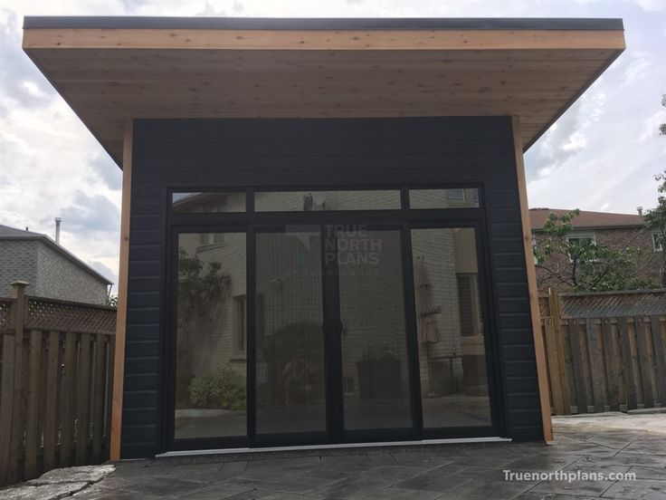 The Urban Studio Backyard Studio Plan Is A Modern Choice For Those Looking  To Build A Backyard Work Space With Style.