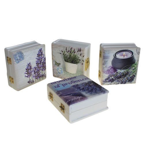 Lovely Little Aromatherapy Essential Oil Storage Box with Two Pure Essential Oils. A. Lavender Pure Essential Oil (10ml) and Lemon Pure Essential Oil (10ml). Design of box will be one of the 4 shown.   eBay!