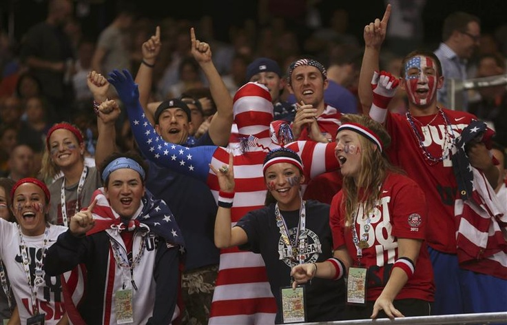 Team USA fans show support and celebrate victory! - http://www.PaulFDavis.com/success-speaker (info@PaulFDavis.com)