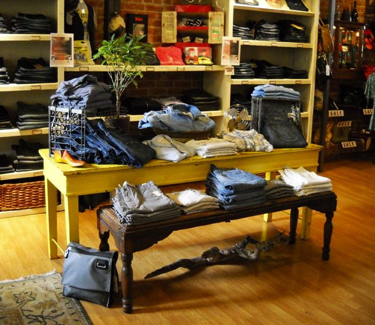 reatil display table ideas rustic wood retail store product display fixtures shelving idea