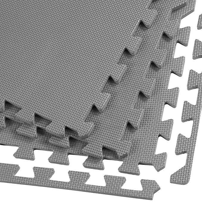 Clevr Interlocking Gym Eva Foam Floor Mat Tiles 24 X 24 Protective Flooring Workout Exercise Mat Puzzle Cus Foam Mat Flooring Foam Flooring Mat Exercises