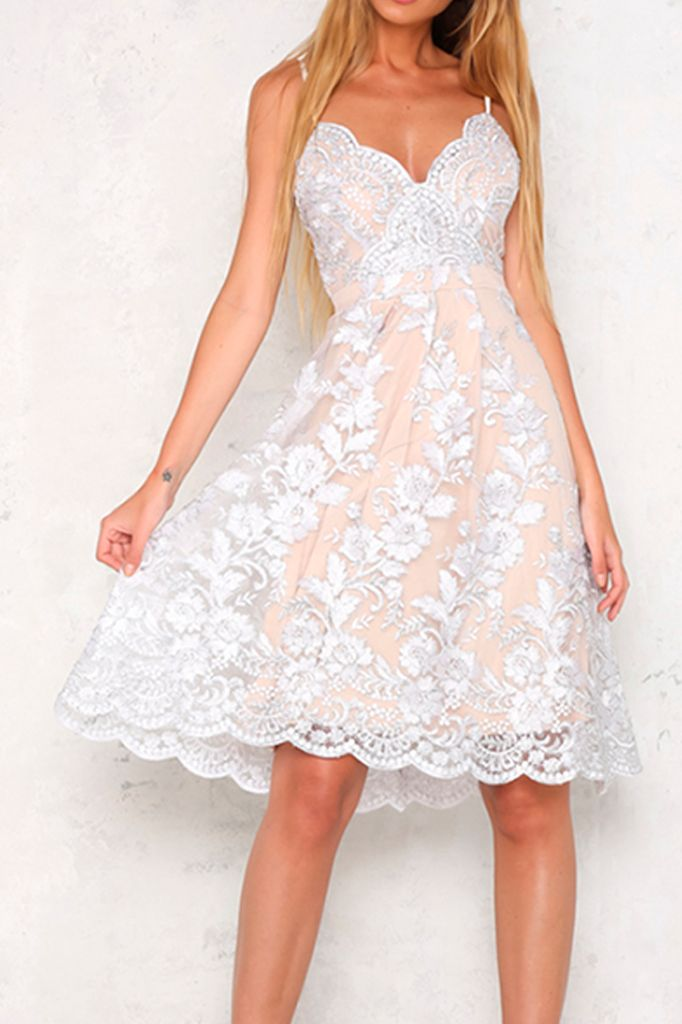 Crystal Rose Midi Dress