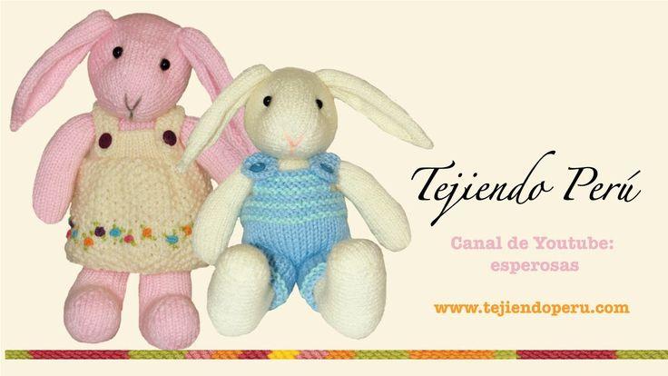 Conejos tejidos en dos agujas o palillos (Parte 6: colita)