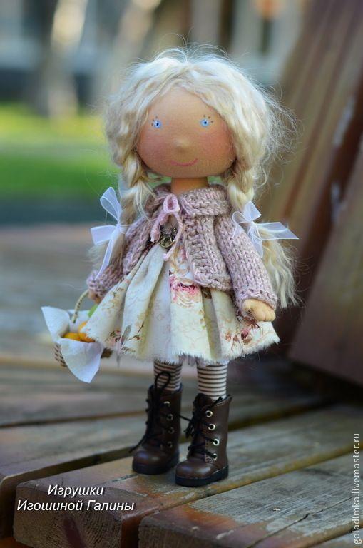 Купить Ульяна))) - бледно-розовый, интерьерная кукла, текстильная кукла, подарок, подарок девушке