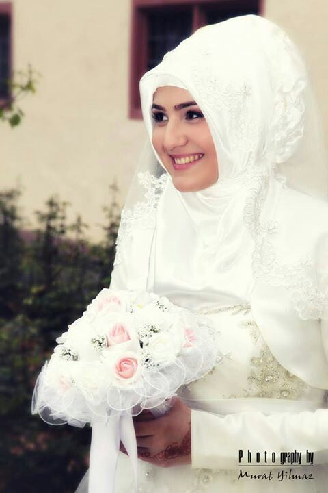 #muslim #bride in #hijab #PerfectMuslimWedding.com