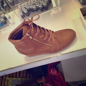 Forever link Shoes - Forever zipper wedge sneakers