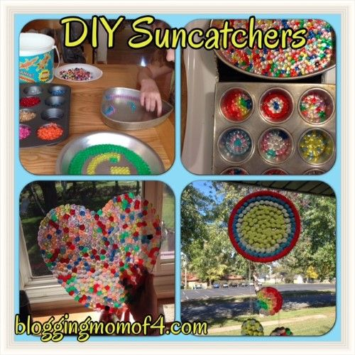 DIY Suncatchers - easy, fun project for you and your kids! Blogging Mom of 4