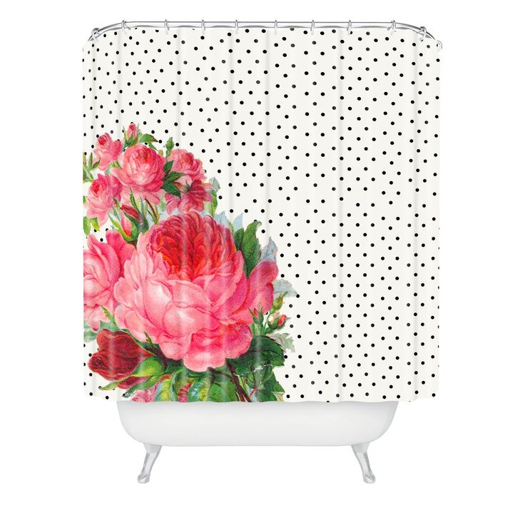 Allyson Johnson Floral Polka Dots Shower Curtain | DENY Designs Home Accessories