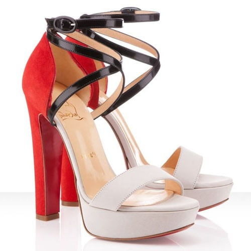 Cheap Christian Louboutin Summerissima 140mm Suede Sandals Nude Marine