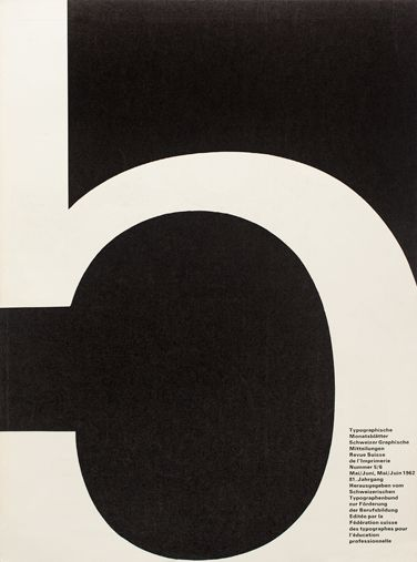 Cover from 1962 issue 5/6// Cover Design André Gürtler Bruno Pfäffli/  Typeface Univers