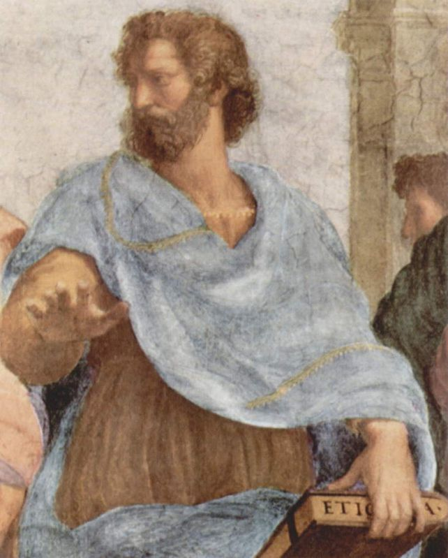 Musei Vaticani - Stanze di Raffaello. Stanza della Segnatura. The school of Athens (Aristotele, detail)