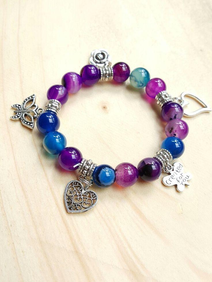Purple & blue gemstone