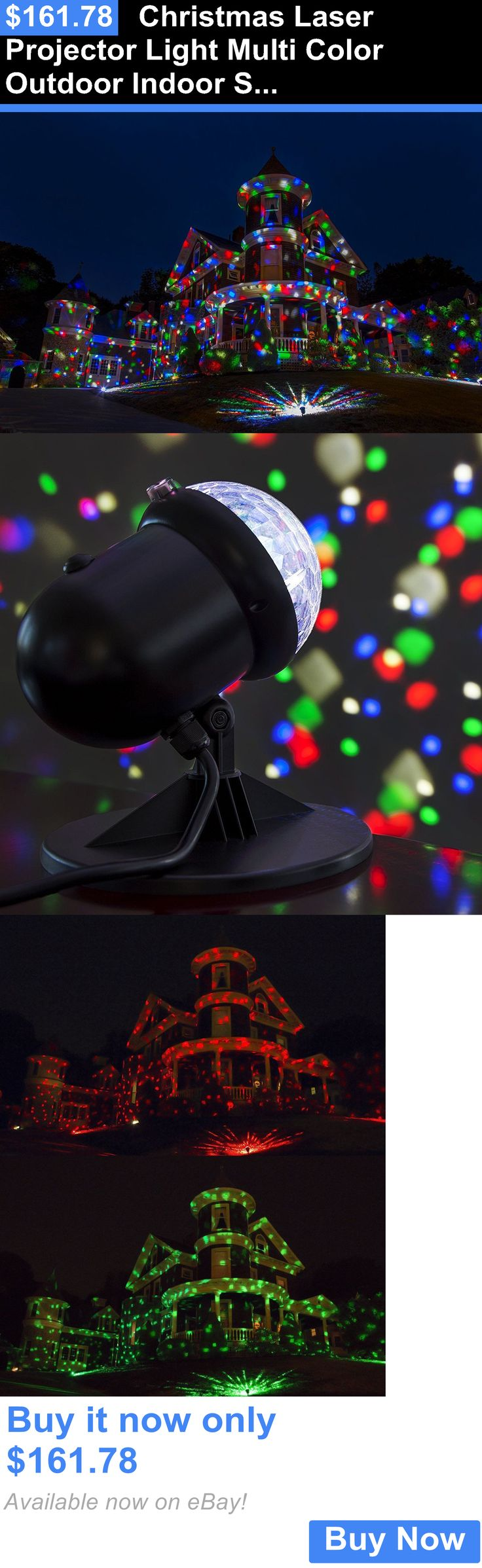 Christmas Decorations: Christmas Laser Projector Light Multi Color Outdoor Indoor Show Led Star Party BUY IT NOW ONLY: $161.78