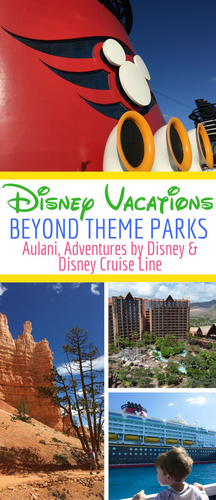 All about Disney vacations beyond the theme parks Tips for planning trips to Aulani in Hawaii a luxury family friendly cruise aboard Disney Cruise Line