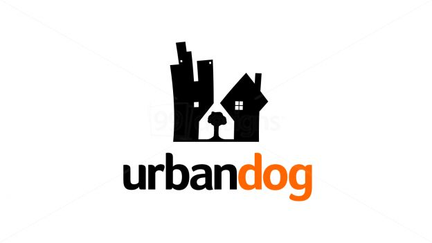 Urban Dog available on 99designs.com (Ready-made logo) Logo is shaped as dog's head. The dog's head is combination of building, house, and a tree. With simple, playful, modern, and elegant style, it ideal for pet company, grooming, animal care, real estate, and any other business. Also it will look great to be printed on business card, shirt, paper bag, and on the web. (SOLD)