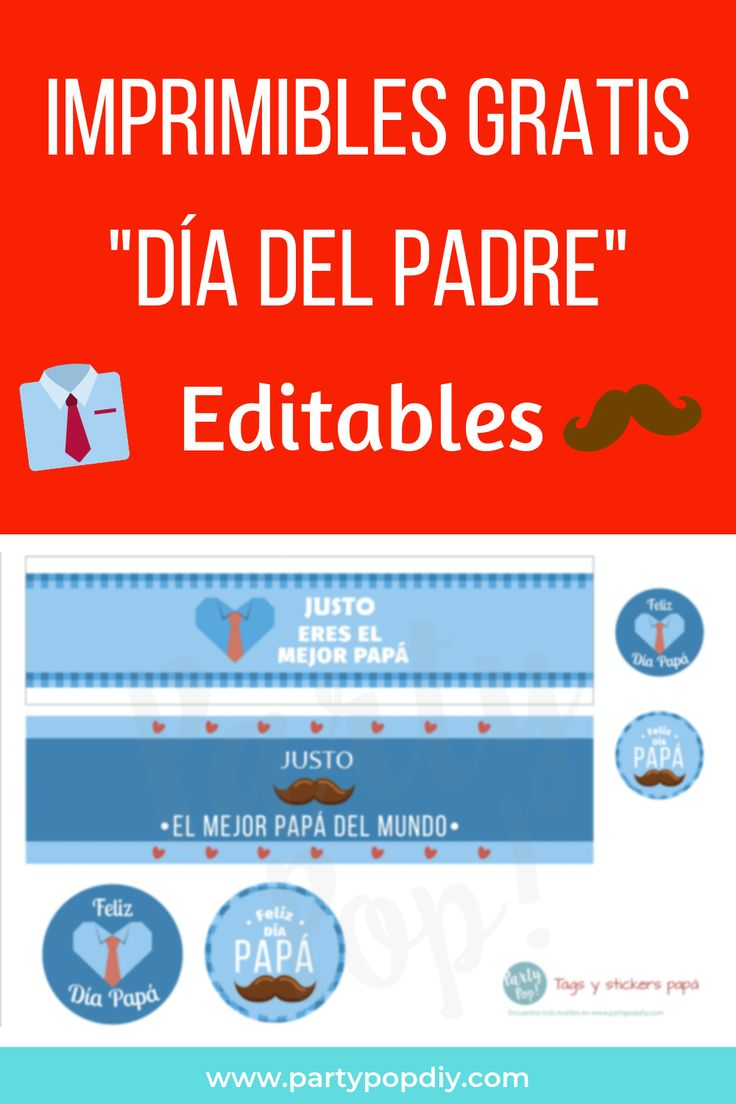Imprimible para día del padre #díadelpadre #papá #printables #padre #diadelpadre #imprimibles  #moldes #freeprintables #editable #labels #fathersday #father #daddy Editable, Fathers Day, Scrapbooking, Map, Gift For Parents, Fathers Day Crafts, Father's Day, Location Map, Maps
