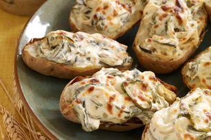 Creamy Roasted Poblano Baked Potatoes #kraftrecipes