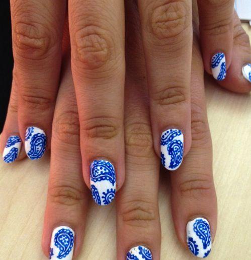 awesome nail art: Nails Design, Style, Wah Paisley, Paisley Nails, Paisley Wah, Nails Tips, Paisley Print, Nails Art Design, Wah Nails